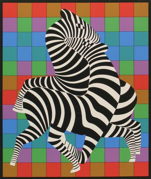 two-zebras-on-coloured-chess-board