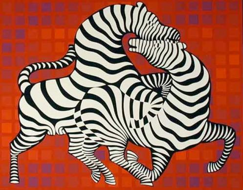victor_vasarelyzebras-playing1
