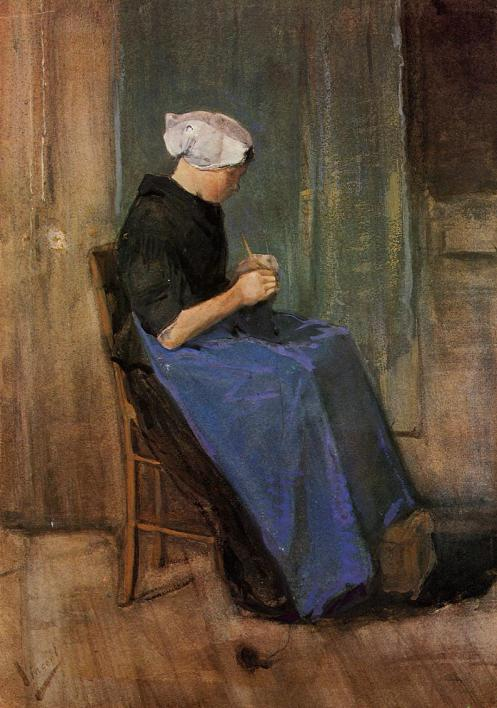 young-scheveningen-woman-knitting-1881