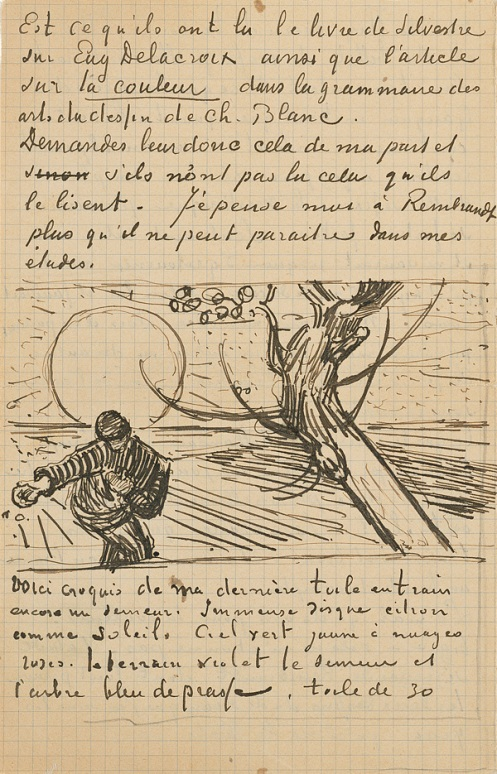 Letter from Vincent van Gogh to his brother Theo (with 1 sketch), 1888