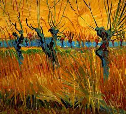 Pollard Willows With Setting Sun 1888