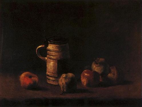 Still Life with Beer Mug and Fruit  1881