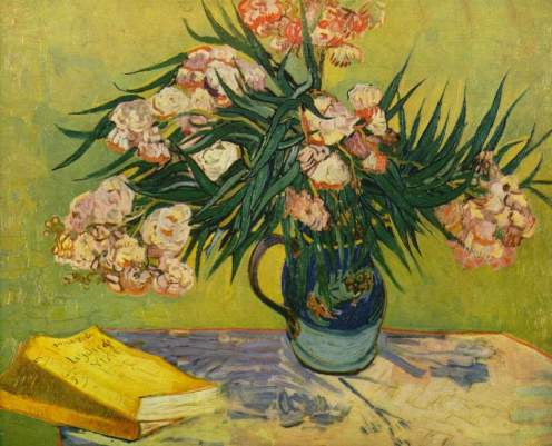 Vase with Oleanders and Books 1888