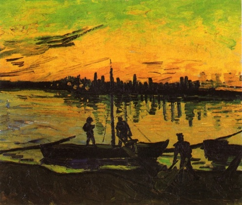 Vincent Van Gogh-Coal Barges 2 1888