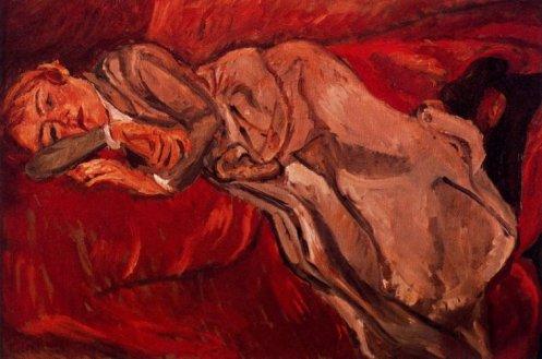 Chaim Soutine Mujer Reclinada (1916)