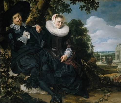 Frans Hals Marriage Portrait of Isaac Massa en Beatrix van der Laen 1622