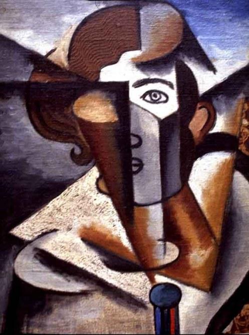 Lyubov Popova Untitled (human bust)1912 constructivismo