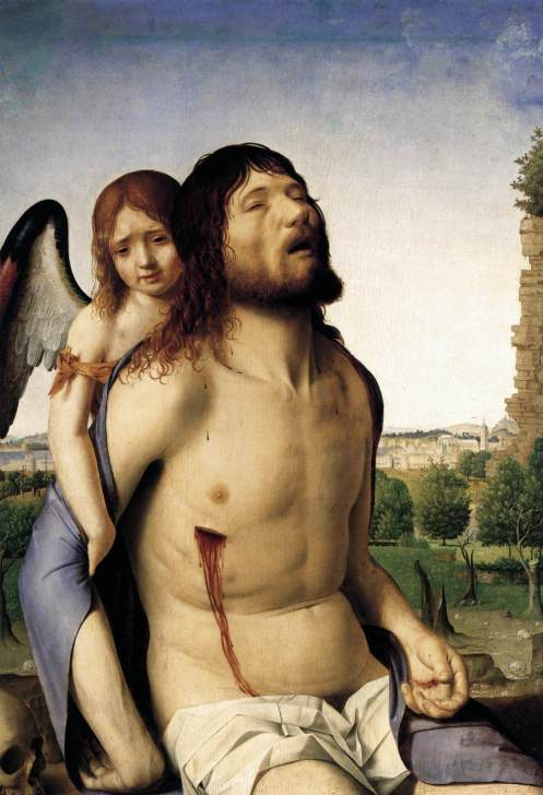 Antonello da Messina The Dead Christ Supported by an Angel