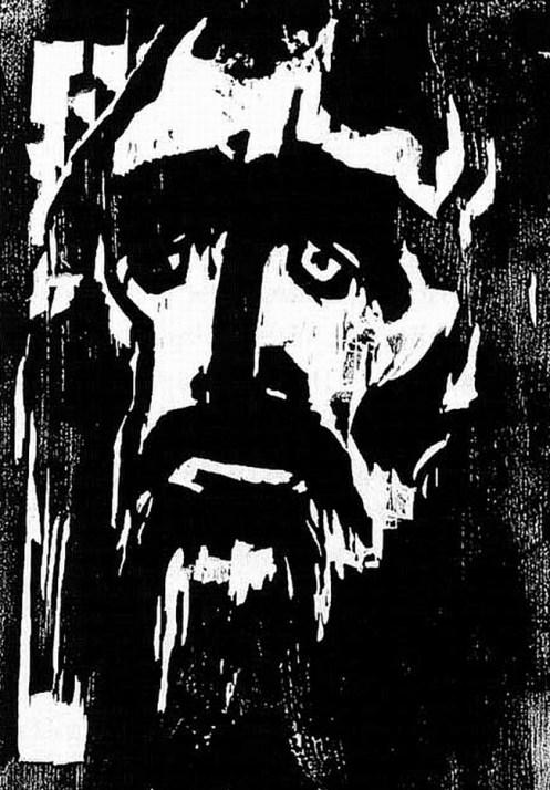 emil-nolde-der-prophet-woodcut-1912