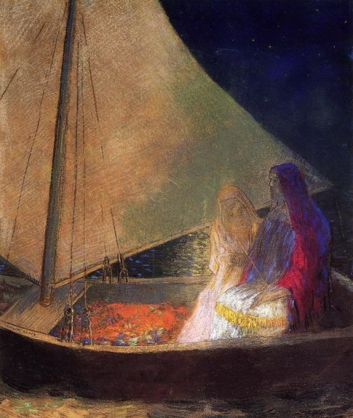 1902 Boat With Two Figures