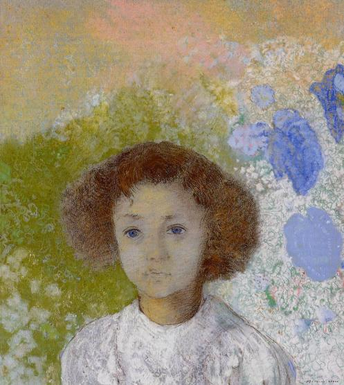 1907 Portrait of Genevieve de Gonet as a Child